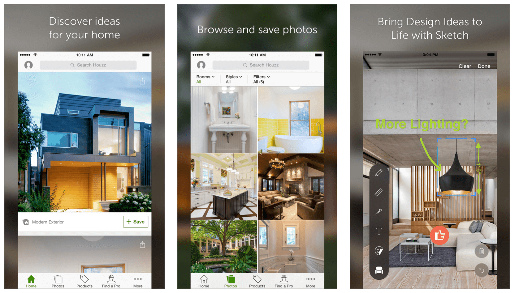 Houzz vacation rental interiors app