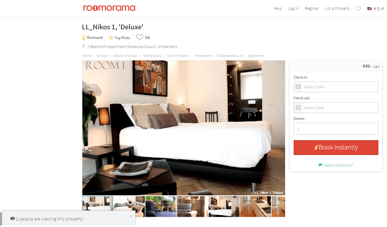 go to roomorama