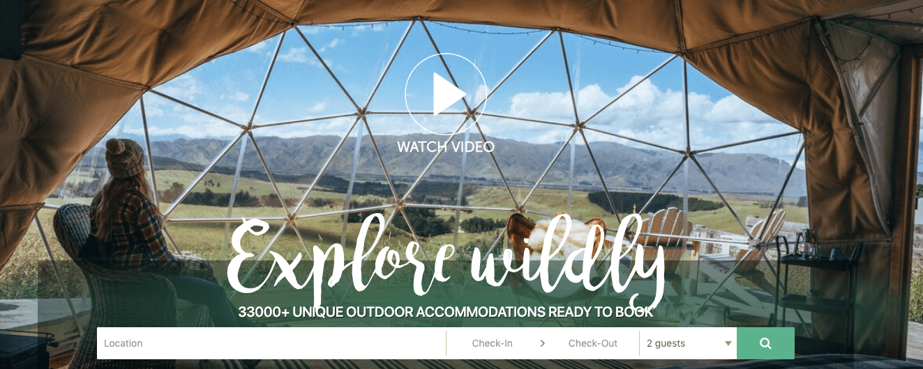 niche vacation rental website Glamping Hubniche vacation rental website Glamping Hub