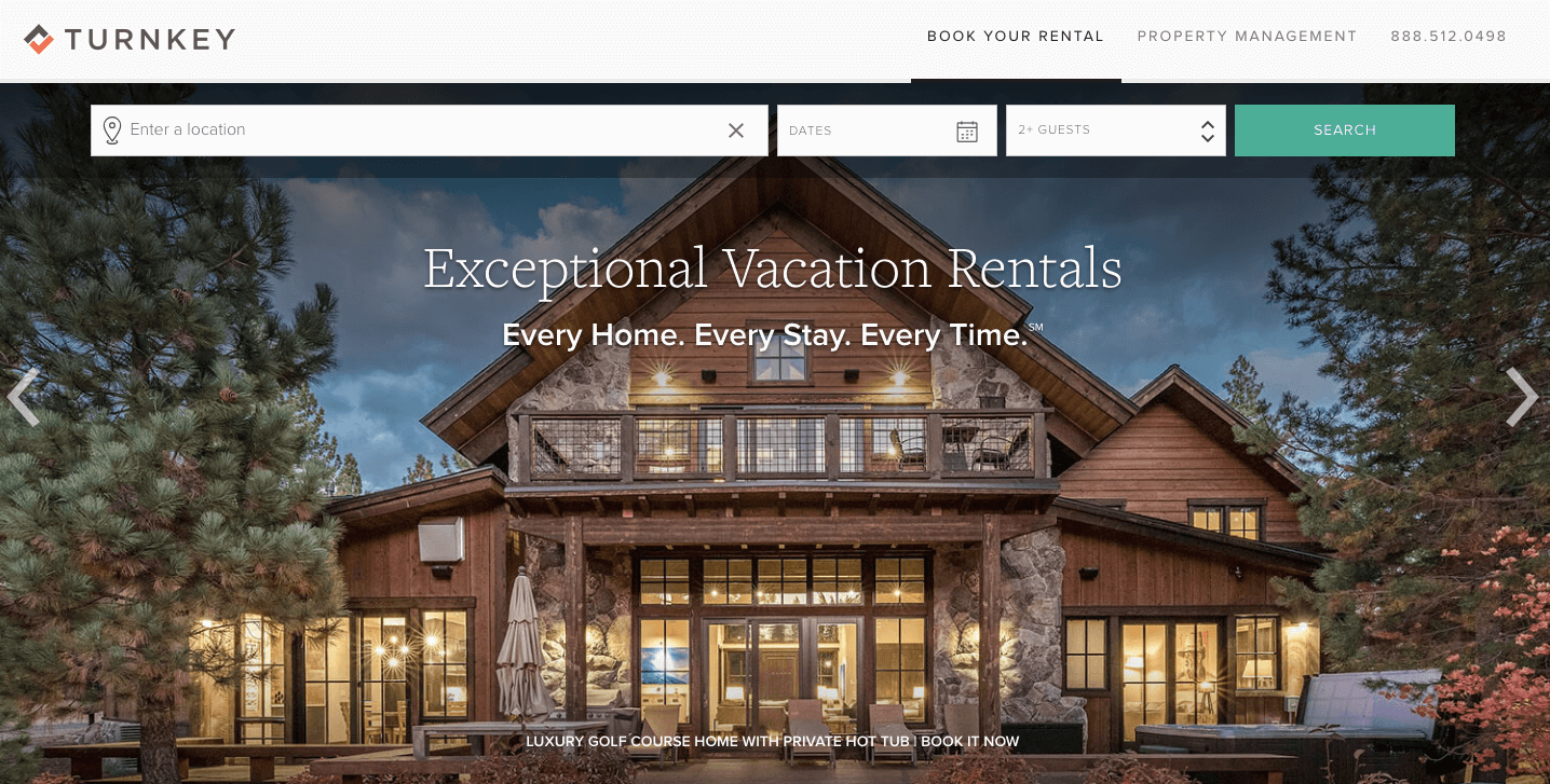 Turnkey vacation rental property management