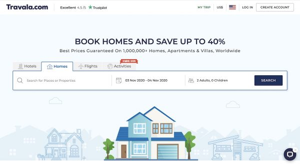 blockchain and vacation rentals - Travala