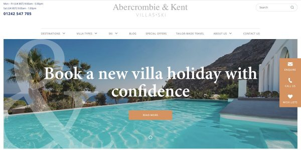 best luxury vacation rental sites - abercrombie and kent villas