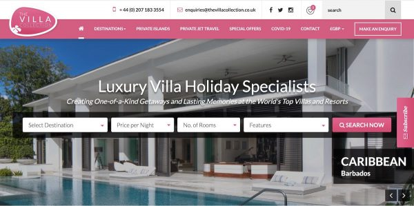 best luxury vacation rental sites - the villa collection